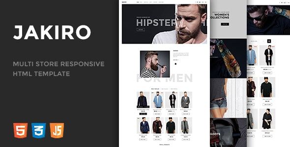Jakiro v1.0 - Multi Store Responsive HTML Template preview image