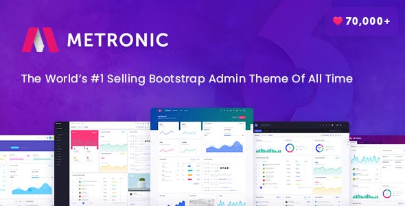 Metronic v6.1.3 - Bootstrap 4, Angular 8, React Admin Dashboard Theme preview image