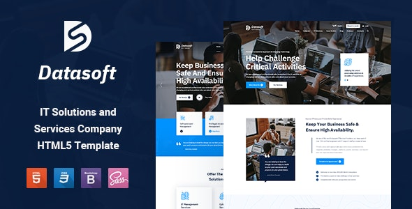 Datasoft v1.0 - IT Solutions & Services HTML5 Template preview image