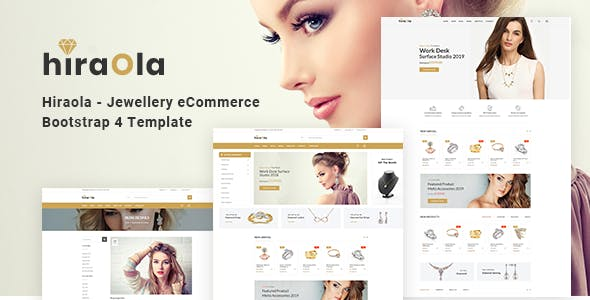 Hiraola v1.0 - Jewellery eCommerce Bootstrap 4 Template preview image