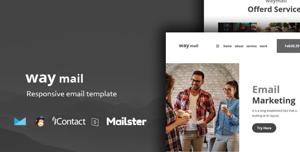 Way Mail - 30+ Modules + Online Access + Mailster + MailChimp preview image