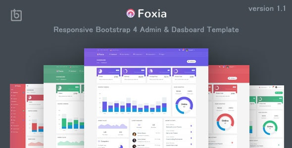 Foxia v1.1 - Admin & Dashboard Template preview image