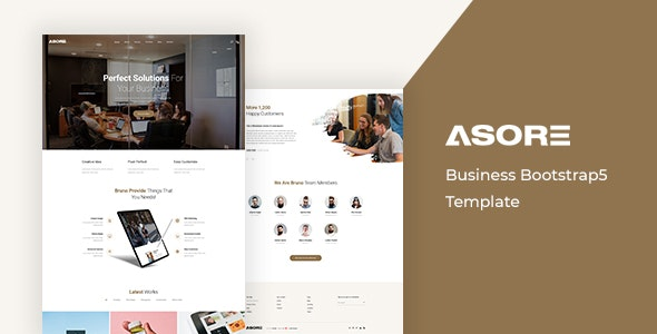 Asore v1.0 - Business Bootstrap 5 Template preview image