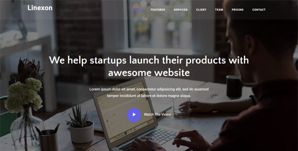 Linexon v1.0 - Responsive Bootstrap 4 Landing Page Template preview image