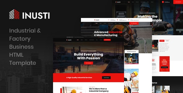 Inusti v1.0 - Industrial & Factory Business HTML Template preview image