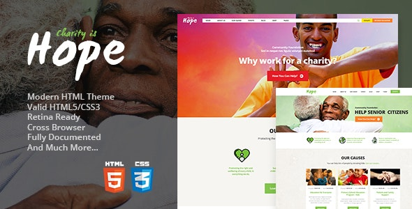 Hope v1.2 - Non-Profit, Charity & Donations Site Template preview image
