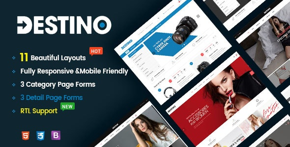 Destino v1.0 - Responsive & Multi-Purpose HTML5 Template preview image