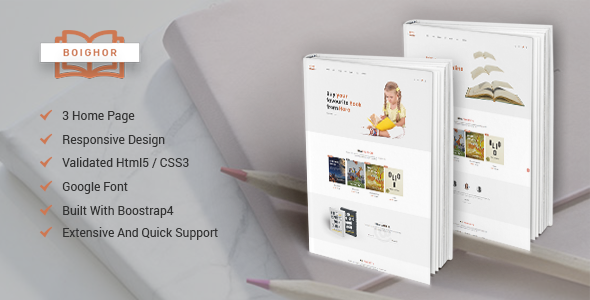 Boighor - Books Library eCommerce Store preview image