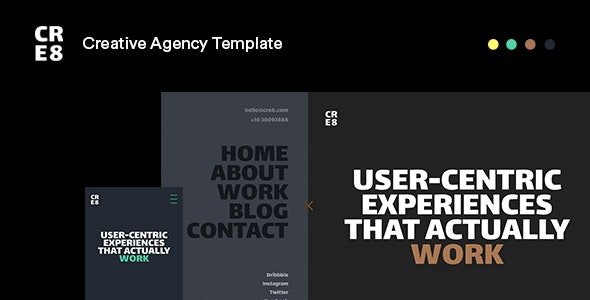 CRE8 v1.0 - Creative Agency HTML Template preview image