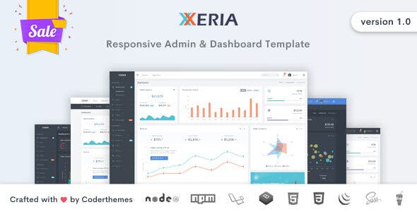 Xeria v1.0 - Responsive Admin & Dashboard Template preview image