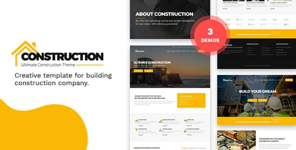 Construction and Building HTML Template v1.0 preview image