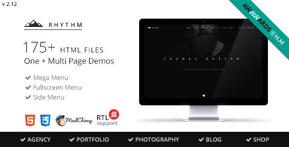 Rhythm v2.12 - Multipurpose One/Multi Page Template preview image