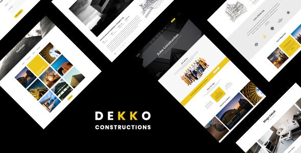 Dekko v1.0 - Construction HTML5 Template preview image