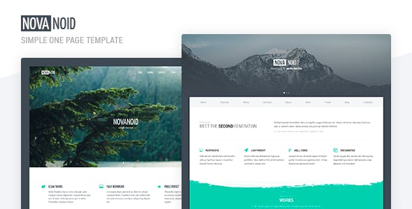 Novanoid - Simple Minimal HTML Template preview image