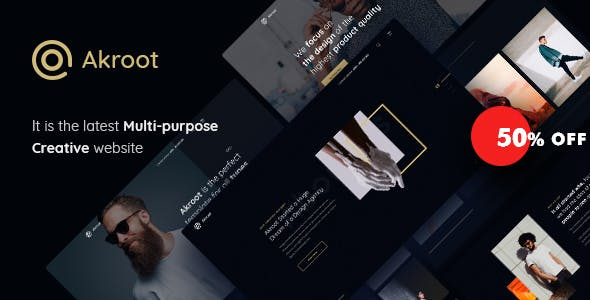 Akroot v1.0 - It is the Multi-purpose Creative HTML5 Template preview image