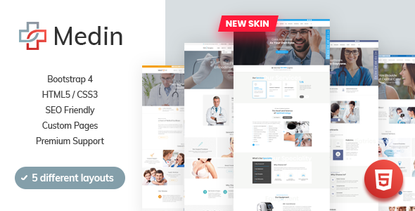 Medin - Medical Clinic HTML Template preview image
