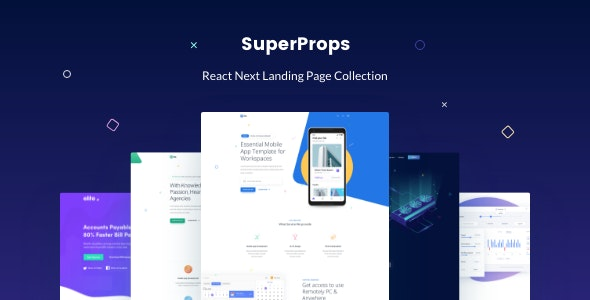 SuperProps - React Next Landing Page Templates preview image