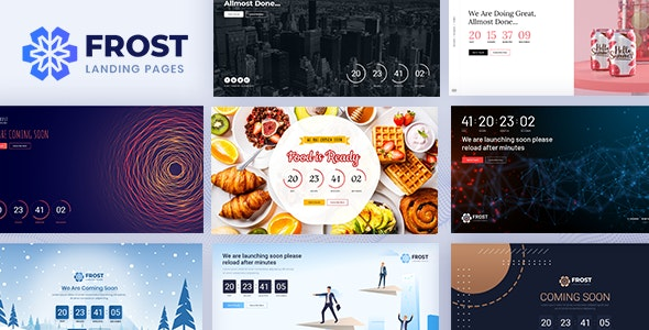 Frost v1.1 - Coming Soon, Under Construction Bootstrap 4 Template preview image