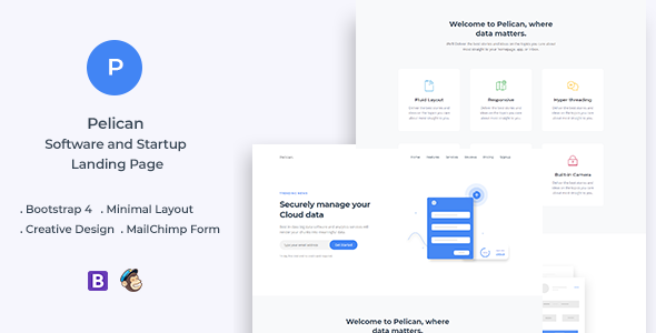 Pelican v1.0 - Startup and Software Landing Page preview image