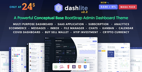 DashLite v2.4 - Bootstrap Responsive Admin Dashboard Template preview image