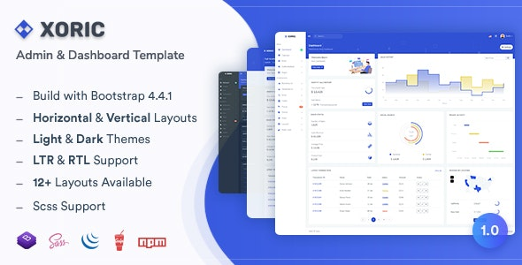Xoric v1.0 - Admin & Dashboard Template preview image