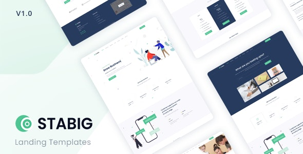 Stabig v1.0 - Bootstrap 5 Creative Landing Page Template preview image