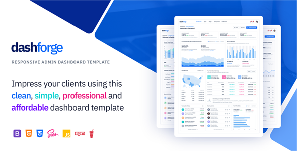Dashforge v1.0 - Responsive Admin Dashboard Template preview image