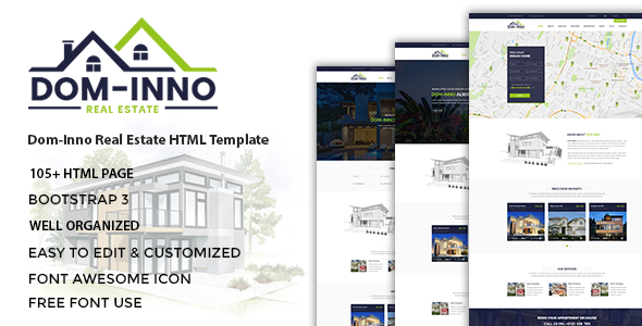 Dominno - Real Estate HTML Template preview image