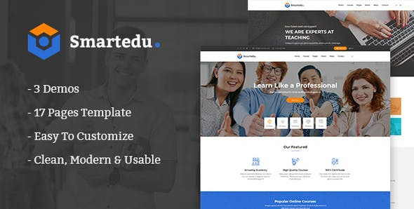SmartEdu v1.0 - Education & Courses HTML Template preview image