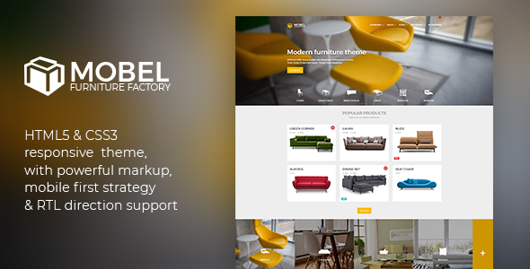 Mobel v2.2.0 - Furniture HTML Template preview image