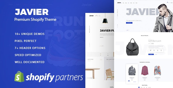 Javier v1.0 - Premium Shopify Theme preview image