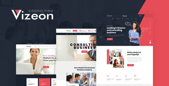 Vizeon v1.0 - Business Consulting HTML Template preview image