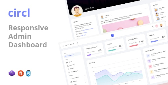 Circl v1.0 - Responsive Admin Dashboard Template preview image