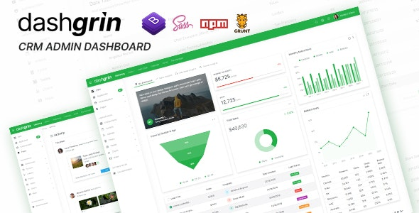 Dashgrin v1.0 - Responsive Data Analytics Admin Dashboard Template preview image