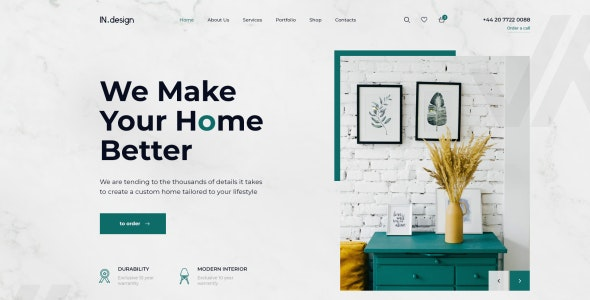 Mint v1.0 - Interior Design HTML Template preview image