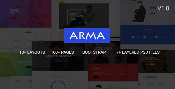 Arma v1.0 - Multipurpose HTML5 Template preview image