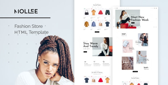 Mollee v1.0 - Fashion Store HTML Template preview image
