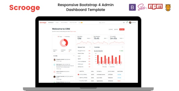 Scrooge v1.0 - Responsive Admin Dashboard Template preview image