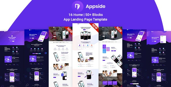 Appside v1.0 - App Landing Page preview image