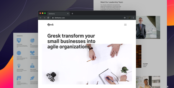 Gresk v1.0 - Premium HTML templates for Business and Management Consulting Company preview image