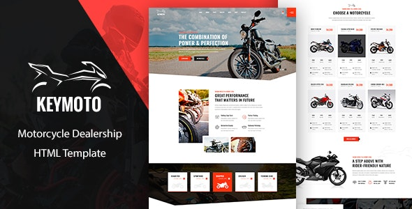Keymoto v1.0 - Motorcycle HTML Template preview image