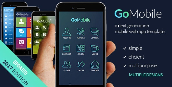 Go Mobile - HTML mobile template preview image