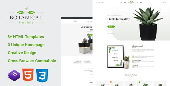 Botanical v1.0 - HTML5 Ecommerce Template preview image