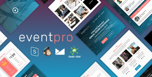 EventPro v1.0 - Responsive Email Template with MailChimp Editor, StampReady & Online Builder preview image