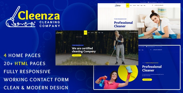 Cleenza v1.0 - Cleaning Service HTML Template preview image