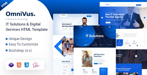 Omnivus v1.0 - IT Solutions & Digital Services HTML5 Template preview image