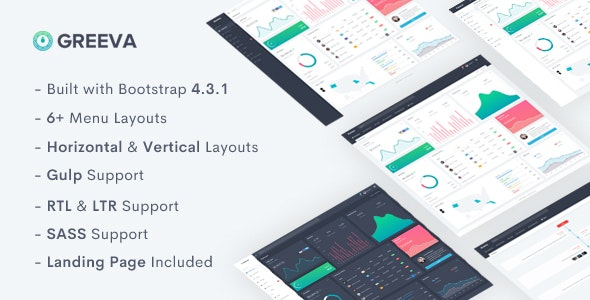 Greeva v1.0 - Admin & Dashboard Template preview image