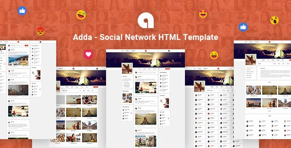 Adda v1.0 - Social Network HTML Template preview image
