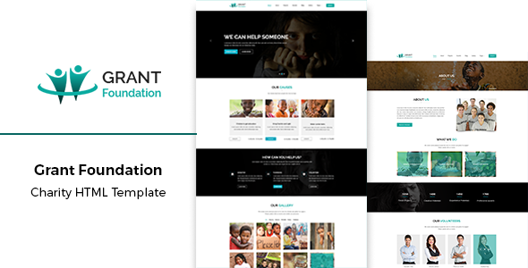 Grant Foundation - Nonprofit Charity HTML Template preview image