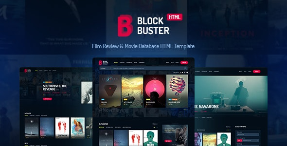 BlockBuster v2.0 - Film Review & Movie Database HTML Template preview image